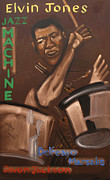 Musician Paintings - Elvin Jones Jazz Machine by Suzanne Giuriati-Cerny