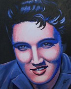 Elvis Presley Painting Originals - Elvis - the King by Anne Gardner