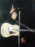 1950s Movies Paintings - Elvis 1956 by Bryan Bustard