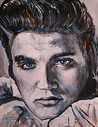 Rock And Roll Painting Posters - Elvis 2 Poster by Eric Dee