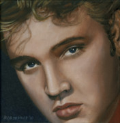 Elvis Presley Painting Originals - Elvis 24 1955 by Rob De Vries