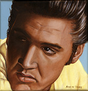 Presley Painting Originals - Elvis 24 1956 by Rob De Vries