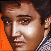 Presley Painting Originals - Elvis 24 1957 by Rob De Vries