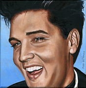 Singer Paintings - Elvis 24 1960 by Rob De Vries