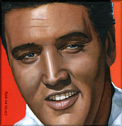 Singer Paintings - Elvis 24 1961 by Rob De Vries