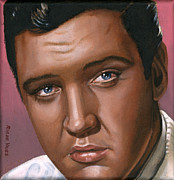 Musicians Painting Originals - Elvis 24 1962 by Rob De Vries