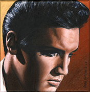 Singer Paintings - Elvis 24 1963 by Rob de Vries