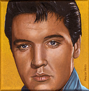 Singer Paintings - Elvis 24 1965 by Rob De Vries