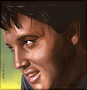 Singer Paintings - Elvis 24 1966 by Rob De Vries