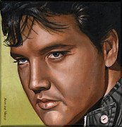 Singer Paintings - Elvis 24 1967 by Rob De Vries