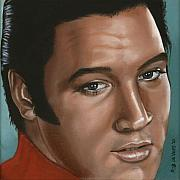 Elvis Presley Painting Originals - Elvis 24 1968 by Rob De Vries