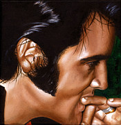 Singer Paintings - Elvis 24 1969 by Rob De Vries