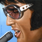 Famous Painting Framed Prints - Elvis 24 1970 Framed Print by Rob De Vries