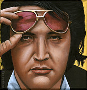 Seventies Painting Posters - Elvis 24 1971 Poster by Rob De Vries
