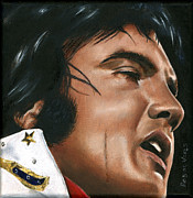 Singer Paintings - Elvis 24 1974 by Rob De Vries