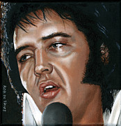 Seventies Painting Posters - Elvis 24 1975 Poster by Rob De Vries