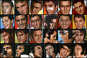 Seventies Painting Posters - Elvis 24 Poster by Rob de Vries