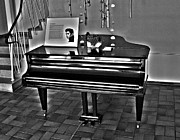 Oberpfalz Framed Prints - ELVIS and The Black Piano ... Framed Print by Juergen Weiss