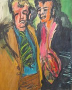 Elvis Presley Painting Originals - Elvis and Vern by Les Leffingwell