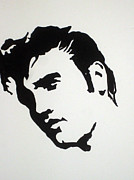 Albert Drawing Drawings Posters - Elvis Before Time Poster by Robert Margetts