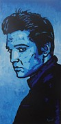 Elvis Presley Art - Elvis Blue by Alejandro Colon