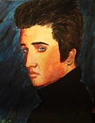 Elvis Presley Painting Originals - Elvis by Bobbi West