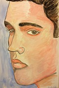 Elvis Presley Painting Originals - Elvis by Caroline Lifshey