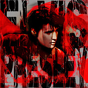 Icon  Mixed Media - Elvis by Christine Mayfield