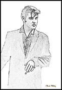 Black And White - Elvis  by Chuck Staley