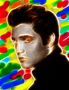 Elvis Presley Art - Elvis Color Magical by Paul Van Scott