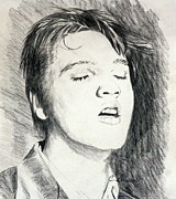 Elvis Presley Art - Elvis  by Cyndi Brewer