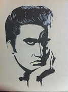 Elvis Presley Painting Originals - Elvis Deep in thought by Fred Colley