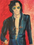 Leclair Prints - Elvis Himself Print by Suzanne  Marie Leclair