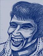 Elvis In Blue Print by Richard Heyman