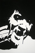 Batman Stencil Art - Elvis is melting by Robert Margetts