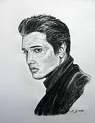 Elvis Drawings - Elvis by Jana Goode