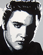 Elvis Presley Painting Originals - Elvis by Michael James  Toomy