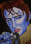 Nannette Harris Prints - Elvis Print by Nannette Harris