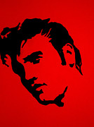 Batman Stencil Art - elvis on the set of True Blood by Robert Margetts