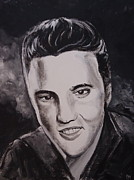 Elvis Portrait Paintings - Elvis by Pete Maier