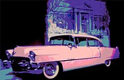 Old Car Digital Art - Elvis Pink Cadillac by Chuck Re