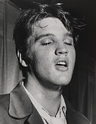 Music Metal Prints - Elvis Presley 1935-1977 Metal Print by Everett