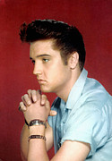 Story-hairstyles Prints - Elvis Presley, 1950s Print by Everett