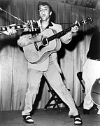 Performing Photo Acrylic Prints - Elvis Presley, C. Mid-1950s Acrylic Print by Everett