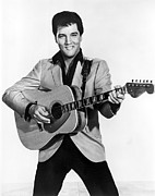 1950s Portraits Photo Metal Prints - Elvis Presley, C. Mid-1960s Metal Print by Everett
