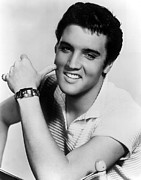 1950s Portraits Photo Metal Prints - Elvis Presley, Ca. 1950s Metal Print by Everett