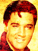 Rock Art Digital Art - Elvis Presley by Juan Jose Espinoza