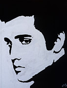 Celebrity Portraits Painting Originals - Elvis Presley by Leeann Stumpf