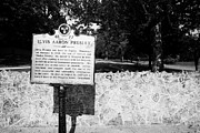 Tenn Prints - Elvis Presley Marker Nameplate And Low Wall Outside Graceland Memphis Tennessee Usa Print by Joe Fox