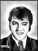 Etc. Drawings - Elvis Presley by Michael Yacono